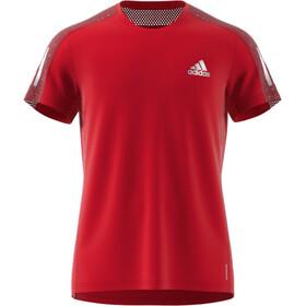 adidas OWN The Run Maglietta A Maniche Corte Uomo, rosso